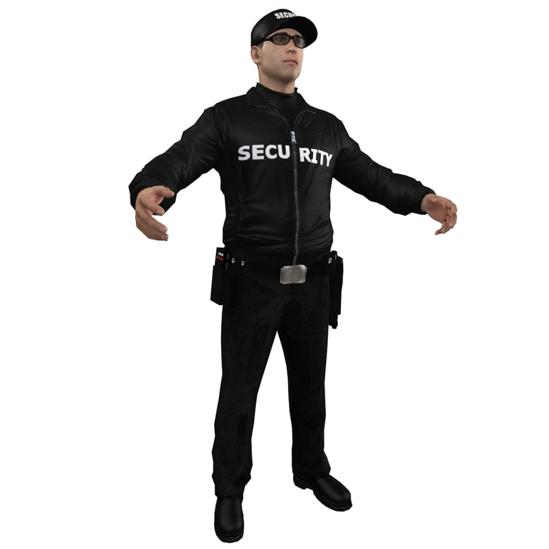 standing guard security officer